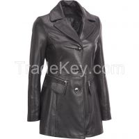 Genuine leather coat jacket for Ladies professional leather jacket for women