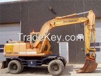 Used Wheel Excavator for sale Hyundai R130W-5 Excavator