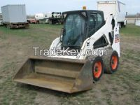 Used 750kg 50hp WS50 Bobcat Skid Steer Loader With Outside Operating Backhoe