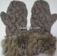 HANDS CRAFT ACRYLIC KNITTED MITTENS/GLOVES