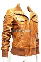 sheep lamb nappa ladies leather jacket