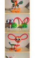 Hot Sale Genius Building Blocks Plastic Educational Toys Best Gift For Children Cartoon Blocks 80pcs G-6606