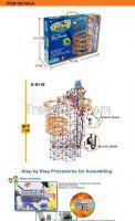 Hot Sale DIY 3D Learing Model Ball Track Wheels Games Assemble Plastic