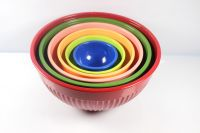 6pcs mixing melamine bowl sets