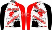 Custom men's sublimation mma rash guard