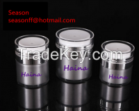 Luxury Acrylic airless pump jars Round acrylic cream jars