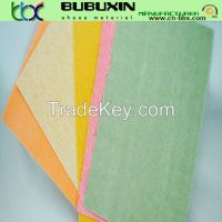 Nonwoven imitation leather for shoe lining