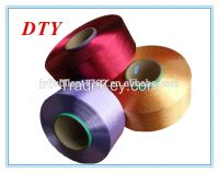 Dope Dyed 100% polyester DTY/FDY/POY spandex covered yarn 3075 scarf knitting patterns yarns