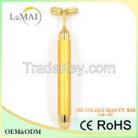 Y shape 24K golden beauty massager