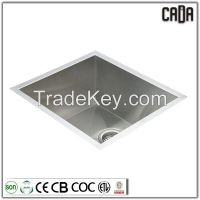 single bowl premium 304 stainless steel full handmade deep kitchen sink