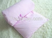 Silk duvet with cotton shell with PVC bag packing