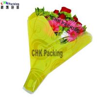 Qingdao CHK Packing white color cellophane flower sleeves