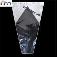 Highly transparent printed flower sleeves /clear plastic flower bag&flower cone