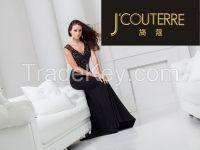 deep-v bigdiamond chesty openback sexy line beaded longdress