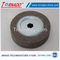 "Tornado 10"" 250mm aluminum oxide flap wheel for polishing"