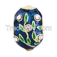 hand enameled metal Easter Faberge egg beads for charms bracelet