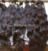 Vietnamese and Cambodian natural wavy hair
