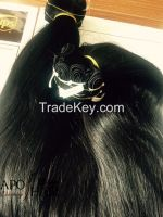Straight Human Hair Weaved With Natural Color
