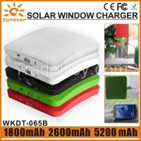 1800mAh/ 2600mAh/5200mAh factory cheap price portable solar window charger/solar charger window/window solar charger