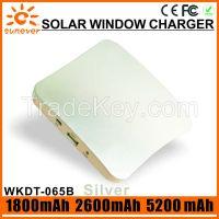 1800mAh/ 2600mAh/5200mAh factory cheap price portable solar window charger/solar charger window/window solar charger