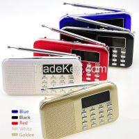 High quality digital usb mini fm radio speaker promotion