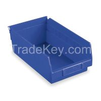 AKRO-MILS 30178BLUE F8873 Shelf Bin 17-7/8 in L 4 in H Blue
