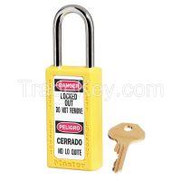 MASTER LOCK 411YLW D1948 Lockout Padlock KD Yellow 1/4 in Dia.