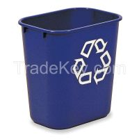 RUBBERMAID FG295573BLUE Recycling Container 3.4 gal Blue
