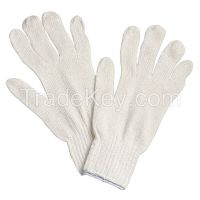 NORTH BY HONEYWELL- 11RKL Knit Glove Large White Cotton/Poly PR