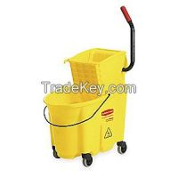 RUBBERMAID FG758088YEL Mop Bucket and Wringer 35 qt. Yellow