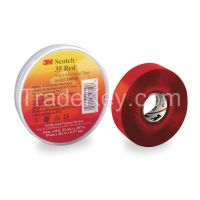 SCOTCH 3534X66RED Electrical Tape 3/4 In x 66 ft 7 mil Red
