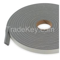 APPROVED VENDOR 2RRE4 Foam Seal 17ft Gray PVC Closed Cell Foam