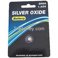 APPROVED VINDOR 5HXH4 Button Cell Battery, 377, Silver Oxide