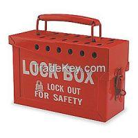 BRADY 65699 Group Lockout Box 13 Locks Max Red