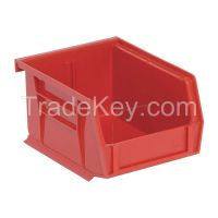 QUANTUM STORAGE SYSTEMS QUS200RD G0165 Hang and Stack Bin 5 In L 4-1/8 In W Red