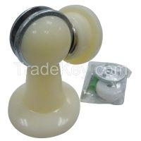 APPROVED VENDOR 33J783 Magnetic Door Holder Plastic Wall/Floor