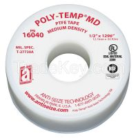 POLY-TEMP 16040 Thread Sealant Tape 1/2 in W 1296 in L