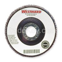 WESTWARD Mount Flap Disc, 4-1/2in, 40, Coarse