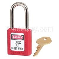 MASTER LOCK  410KAS12RED  Lockout Padlock KA Red 1/4 In. PK12