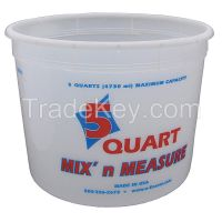 ENCORE PLASTICS 81166 Paint Mix And Measure Cont. 5 qt Plastic