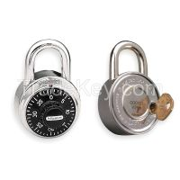 MASTER LOCK 1525 Combination Padlock Center 1 Dial SS