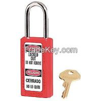 MASTER LOCK 411RED  D1948 Lockout Padlock KD Red 1/4In Shackle Dia