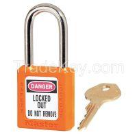 MASTER LOCK 410ORJ  D1944 Lockout Padlock KD Orange 1/4 in Dia.