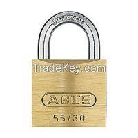ABUS 5540KA Padlock KA 13/16 In H 4 Pin Brass