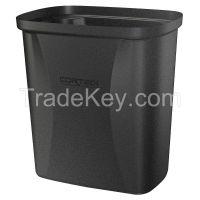 CORTECH 710BK Open-Top Trash Can Rectangular 2.5 gal.