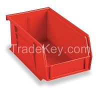 AKRO-MILS 30220RED F8647 Hang/Stack Bin H 3 W 4 1/8 D 7 3/8 Red