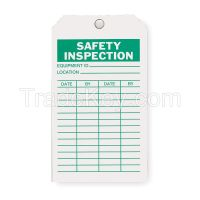 APPROVED VENDOR 2RMU4 Saf Inspection Tag 7 x 4 In Grn/Wht PK10
