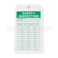 APPROVED VENDOR 2RMU4 Saf Inspection Tag 7 x 4 In Grn/Wht PK10