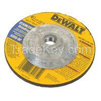 DEWALT DW8415 Depressed Ctr Whl, T27,4.5x1/4x5/8-11, AO