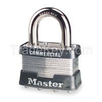 MASTER LOCK 1 Padlock KD 15/16 In H 4 Pin Steel